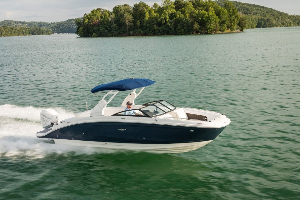 360 VR Virtual Tours of the Sea Ray SDX 270 Outboard